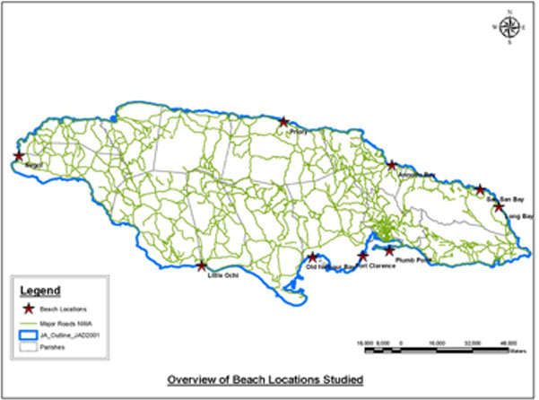 Shoreline Change In Jamaica CEAC Solutions - Jamaica political map 1968